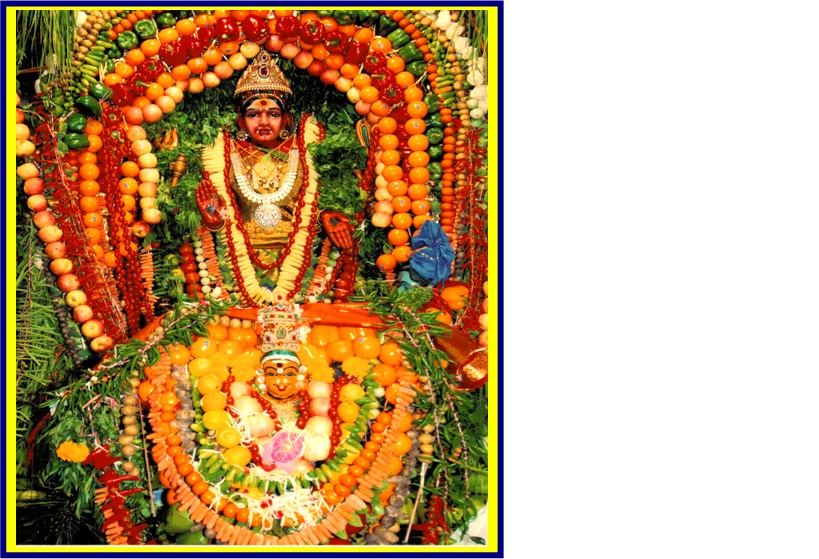 SRI SAGAMBARI ALANGARAM AND SPECIAL POOJAI FOR SRI DURGAI